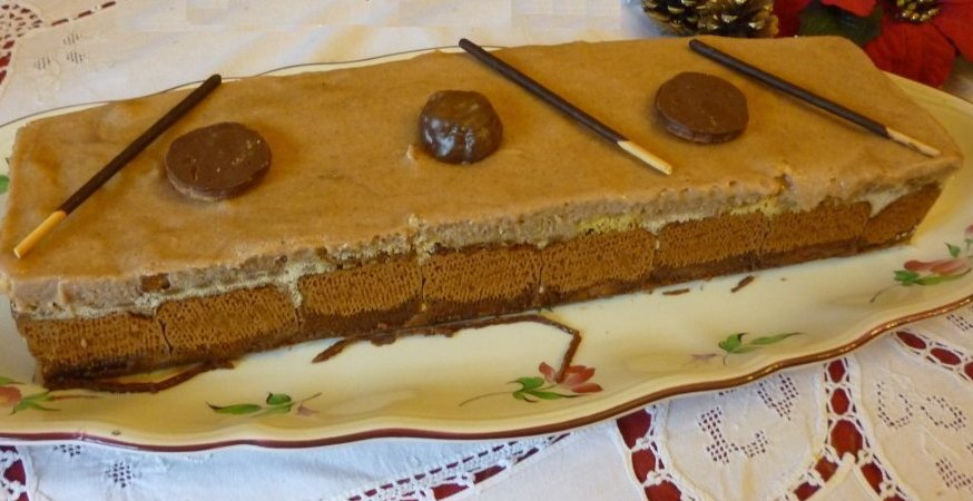 gâteau speculoos marron