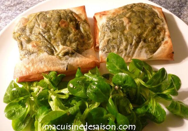 Brick saumon-oseille