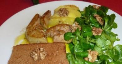 foie gras frais poelé aux pommes