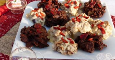 Roses des sables au chocolat blanc et chocolat noir