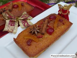 Cake de Noël à l'orange