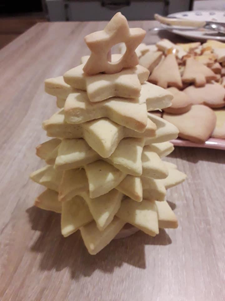 sapin de Noel en biscuits sablés