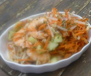 Recette de Salade de soja et crevettes