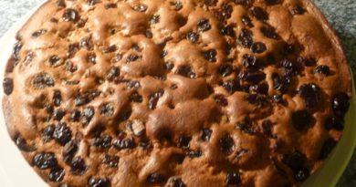 Gâteau aux cranberries