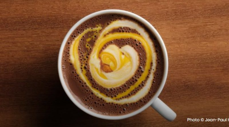 Chocolat chaud à la crème de mangue
