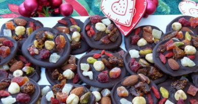 Mendiants de Noël au chocolat