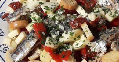 Salade de pommes de terre et sardines